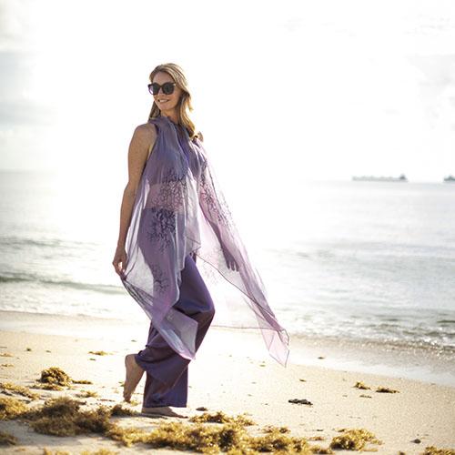 Brigitte Cover Up in Purple
