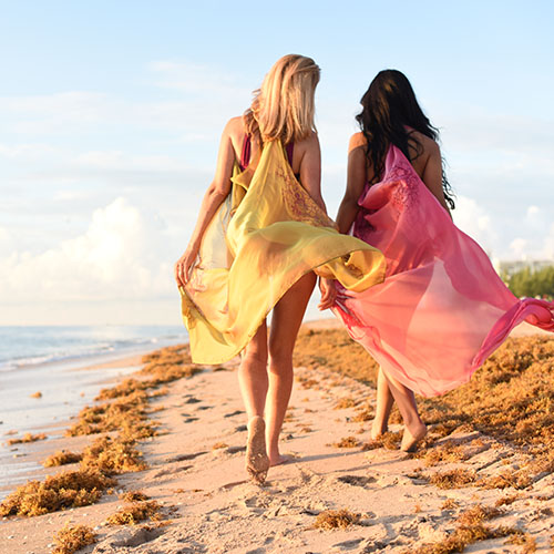Vivianne Cover Ups in Pink and Loden