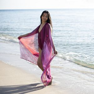 ChichiLuna Vivianne Cover Up in Wine